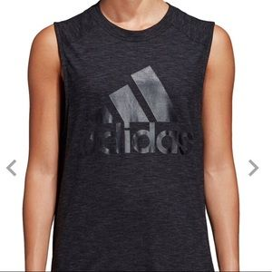 Black Adidas Muscle Tank Top Size XL